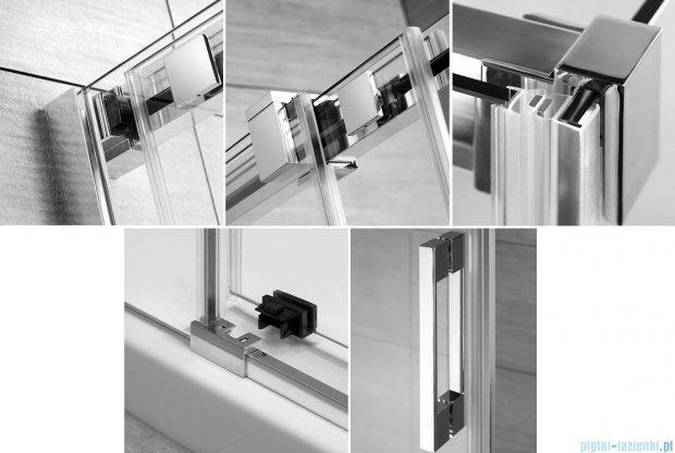 Radaway Espera KDD Kabina prysznicowa 120x80 szkło przejrzyste + brodzik Argos D + syfon 380153-01L/380150-01R/4AD812-01