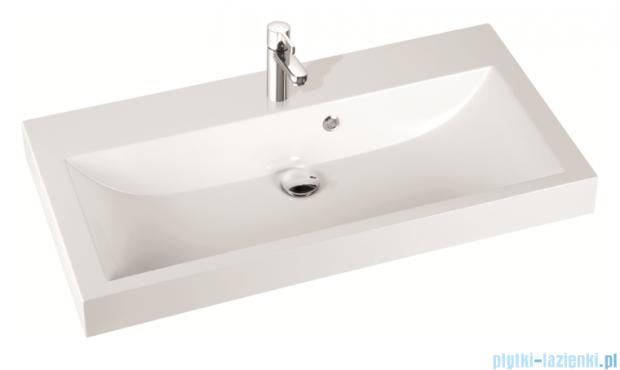 Marmorin umywalka nablatowa Argo 100 cm bez otworu biała 290100022010
