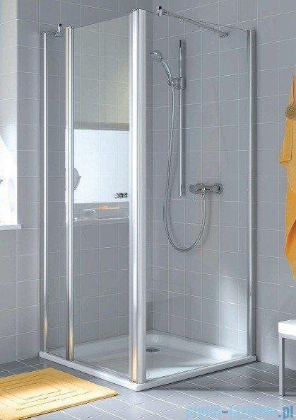 Kermi Atea Ściana boczna, szkło przezroczyste, profile białe 75cm ATTWD075182AK