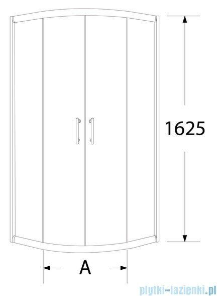 Sea Horse Sigma kabina natryskowa półokrągła - niska, 90x90, szkło: brązowe A2 BK002/3/KB/A2