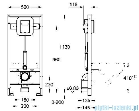 Grohe Rapid SL do WC ściennego automat spłukujący ciśnieniowy 6 - 9 l do uruchamiania ręcznego / elektrycznego   38519001