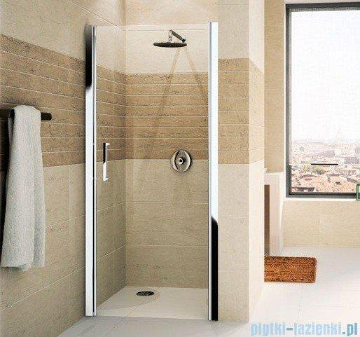 Novellini Drzwi do wnęki uchylne GIADA 1B 78 cm prawe szkło przejrzyste profil srebrny GIADN1B78D-1B