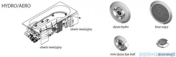 Riho Delta wanna asymetryczna lewa 160x80 z hydromasażem Hit Hydro 6+4+2/Aero11 BB83H3
