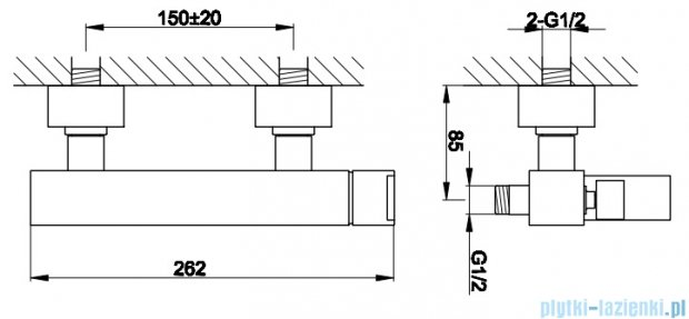 Kohlman Excelent natynkowa bateria prysznicowa QW120H