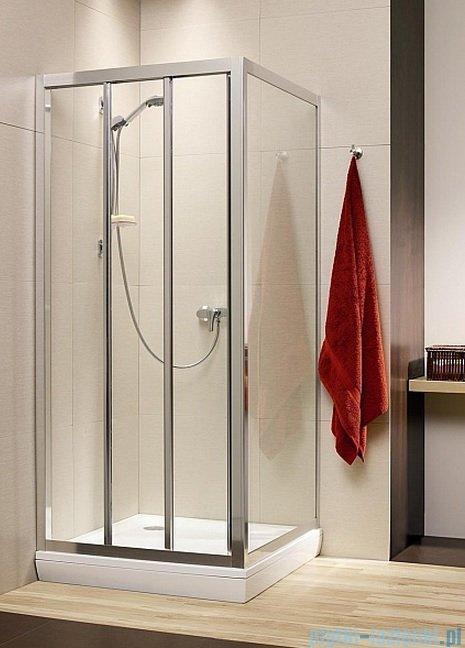 Radaway Treviso DW+S kabina 80x75 szkło fabric 32313-01-06N/32433-01-06N