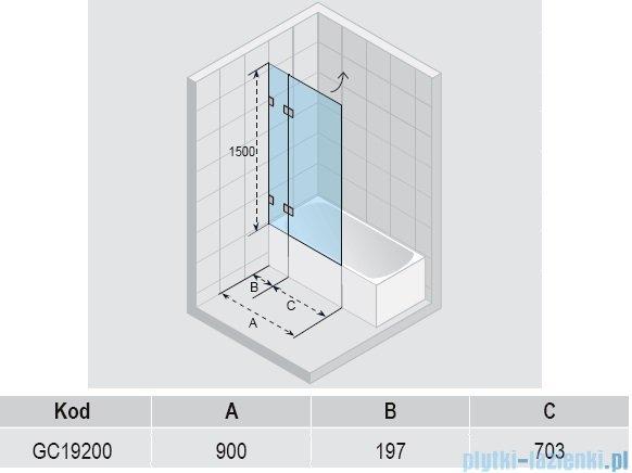 Riho Scandic S109 parawan nawannowy  90x150 cm GC19200
