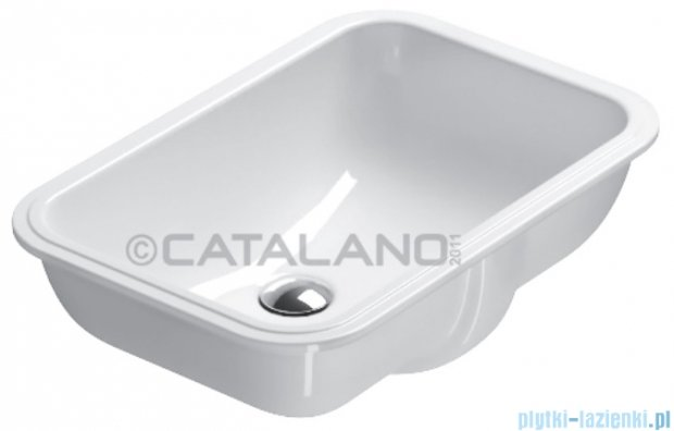 Catalano Sottopiano 55 umywalka podblatowa 55x38 cm biała 1SOCN00