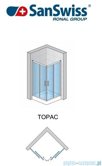 SanSwiss Top-Line TOPAC Wejście narożne 60-90cm profil biały Prawe TOPDSM10407