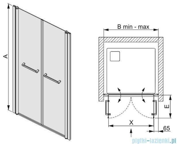 Sanplast drzwi skrzydłowe szkło: przejrzyste  DD/PRIII-90    600-073-0930-01-401