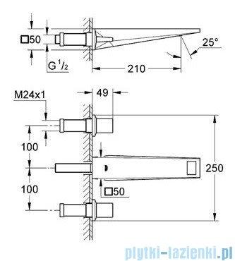 Grohe Allure Brilliant 3-otworowa bateria umywalkowa DN15 chrom 20348000
