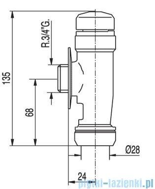 Tres Tempotres Automat spłukujący Wc 1.12.205