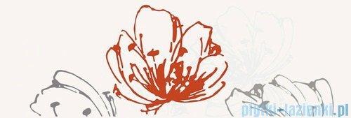 Paradyż Midian grys kwiat inserto ścienne 20x60