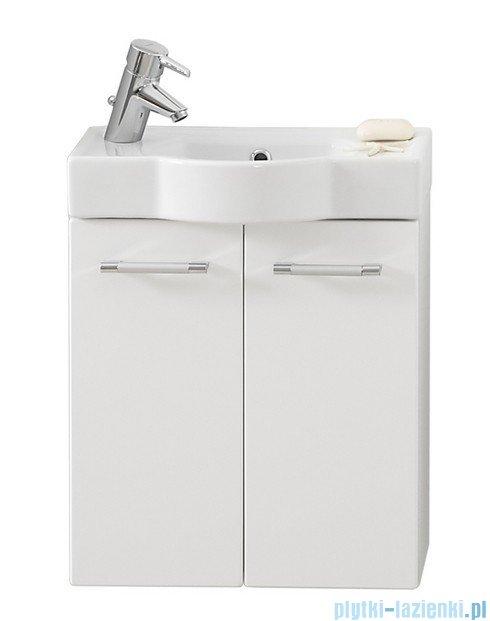 Antado Prima szafka z umywalką, wisząca 50x24x54 biały połysk BFM-148 + UCT-50x30