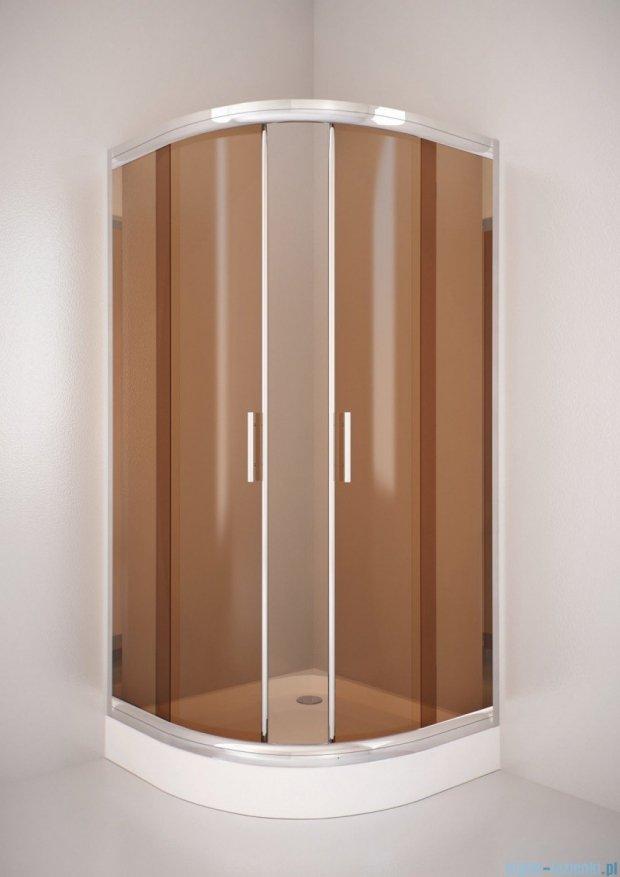 Sea Horse Sigma kabina natryskowa narożna półokrągła 80x80, szkło: brązowe,   BK001/3/B