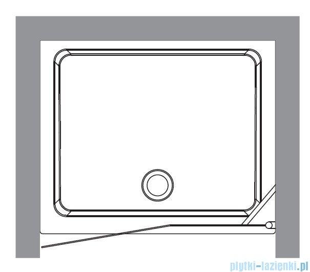 Kerasan Drzwi prysznicowe lewe, szkło dekoracyjne piaskowane profile brązowy 92x180 Retro 9140P3