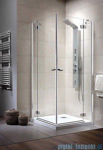 Radaway Kabina prysznicowa Fuenta KDD 100x80 szkło grafitowe 381063-05L