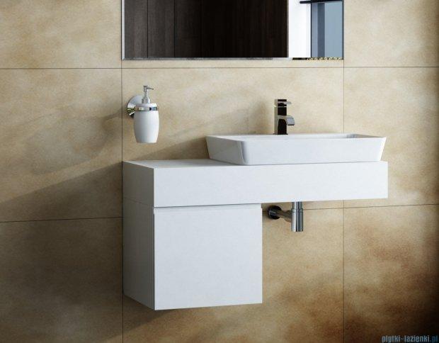 Antado Combi szafka lewa z blatem biała/ciemne drewno ALT-141/45-L-WS/dp+ALT-B-1000x450x150-WS