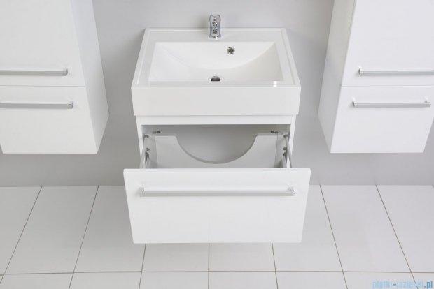 Antado Variete szafka z umywalką, wisząca 60x50x33 biały połysk FM-442/6 + UNA-600