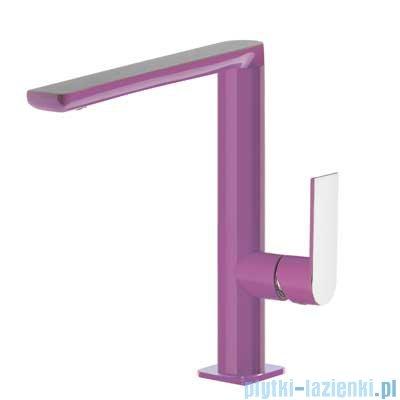 Tres Loft Colors Bateria umywalkowa z korkiem automatycznym kolor fioletowy 200.205.02.VI.D