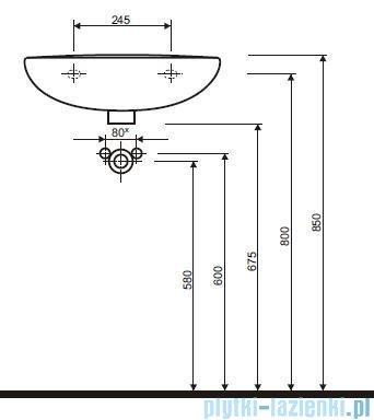 Koło Idol Umywalka 50cm z otworem M11150000