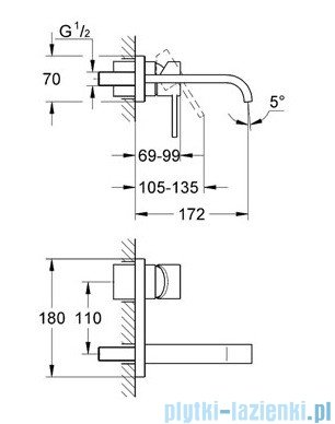 Grohe Allure 2-otworowa bateria umywalkowa chrom 19309000
