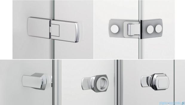 Sanswiss Melia ME13P Drzwi ze ścianką w linii prawe 100x200cm przejrzyste ME13PD1001007