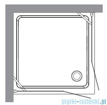 Kerasan Kabina kwadratowa szkło dekoracyjne piaskowane profile chrom 100x100 Retro 9148P0