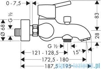 Hansgrohe Talis S Jednouchwytowa bateria wannowa DN15 montaż natynkowy 32420000