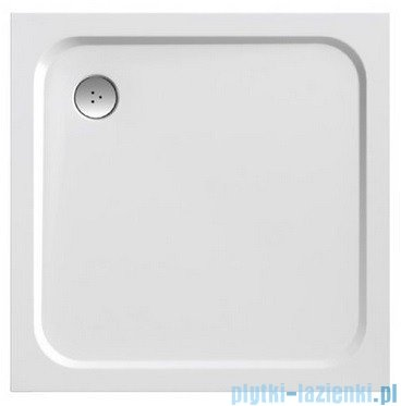 Ravak Brodzik Perseus Pro Chrome 80 biały, konglomerat marmurowy XA044401010