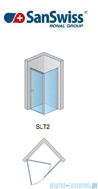 SanSwiss Swing Line SLT2 Ścianka boczna 120cm profil biały SLT212000407