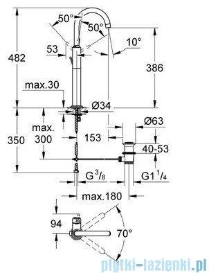 Grohe Atrio bateria umywalkowa DN 15 chrom 32647001