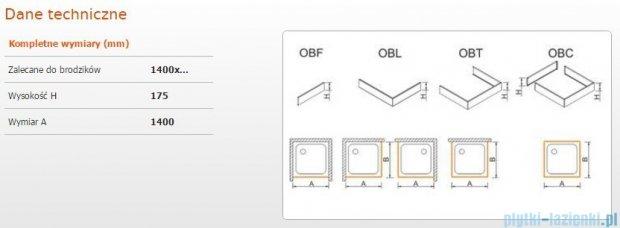 Sanplast Obudowa frontowa do brodzika OBF 140x17,5 cm 625-403-0370-01-000