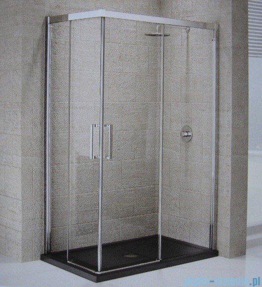 Novellini Elysium Kuadra A Ścianka prysznicowa 78cm prawa szkło przejrzyste profil chrom KUADA78LD-1K