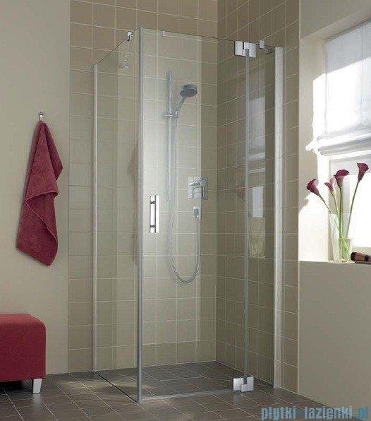 Kermi Filia Xp Drzwi wahadłowe z polem stałym, prawe, szkło przezroczyste, profile srebrne 90x200cm FX1WR09020VAK