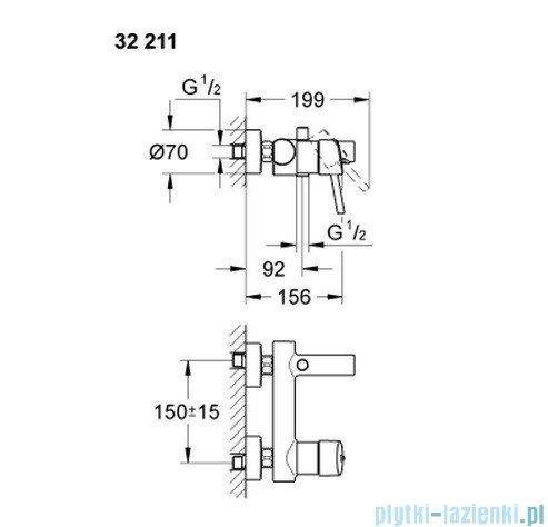 Grohe Concetto jednouchwytowa bateria wannowa  32211 001