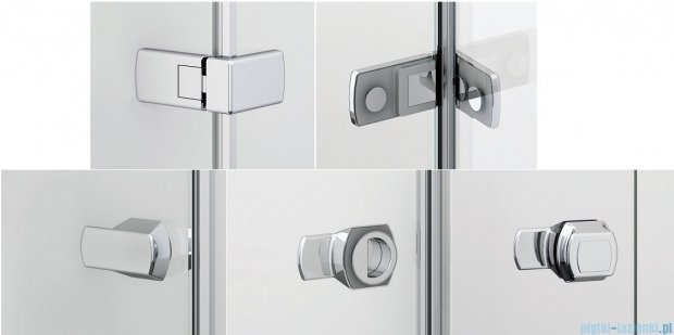 Sanswiss Melia ME31P Kabina prysznicowa prawa 140x75cm przejrzyste ME31PD1401007/MET3PG0751007