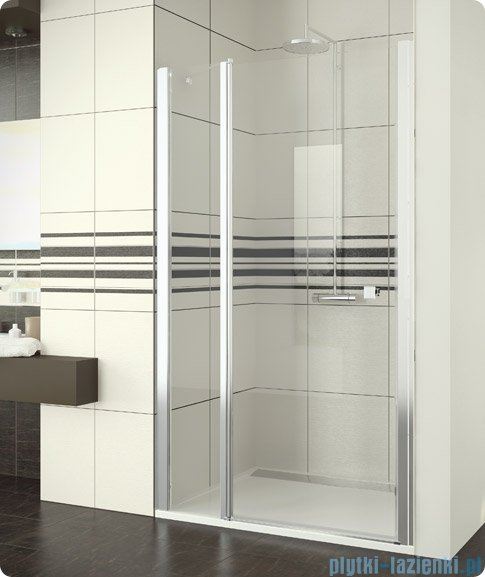 SanSwiss Swing Line SL13 Drzwi prysznicowe 80cm profil srebrny SL1308000107