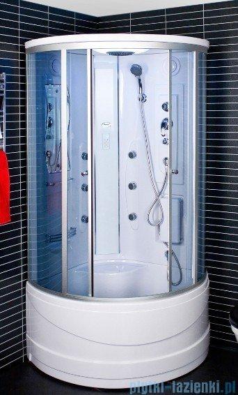 Duschy Kabina z hydromasażem szkło niebieskie 90x90cm model 6026