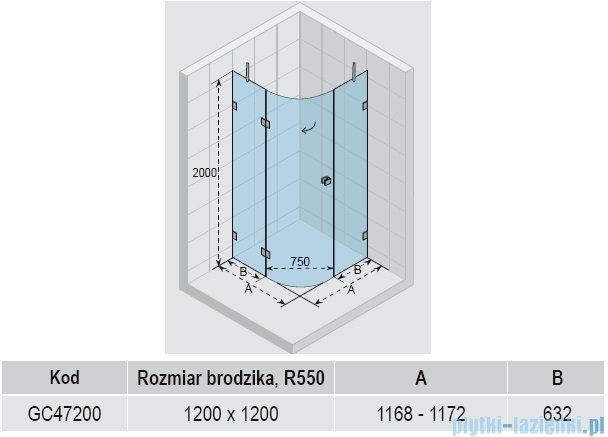 Riho Scandic S308 kabina prysznicowa 120x120x200 cm GC47200
