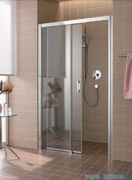Kermi Atea Drzwi przesuwne bez progu, lewe, szkło przezroczyste KermiClean, profile białe 160x200 ATD2L160202PK