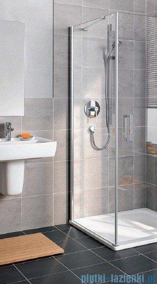 Kermi Gia XP Ściana boczna, lewa, szkło przezroczyste, profile srebrne 80x185cm GXTWL08018VAK