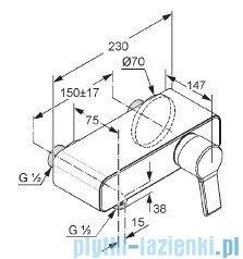 Kludi O-Cean Bateria natryskowa chrom 389700575