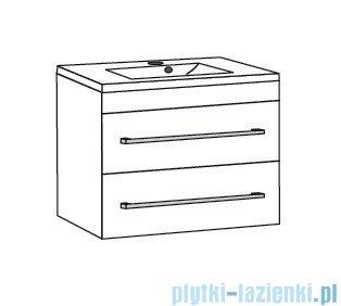 Antado Variete ceramic szafka podumywalkowa 2 szuflady 62x43x50 czarny połysk FM-AT-442/65/2-9017