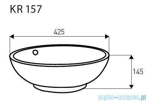 Novoterm Kerra Umywalka nablatowa KR 157 okrągła 42,5 cm