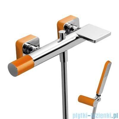 Tres Loft Colors Bateria jednouchwytowa wannowa z kaskadą kolor pomarańczowy 200.170.01.NA