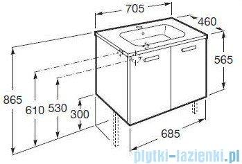 Roca Victoria Basic Zestaw łazienkowy Unik szafka z umywalką 70cm biały połysk A855881806