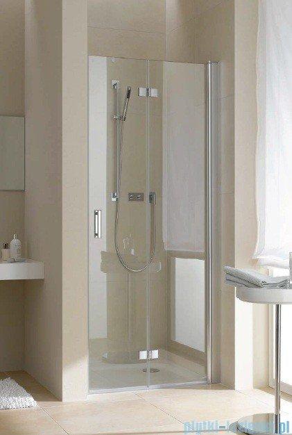 Kermi Diga Drzwi wahadłowo-składane, prawe, szkło przezroczyste, profile białe 90x200 DI2DR090202AK