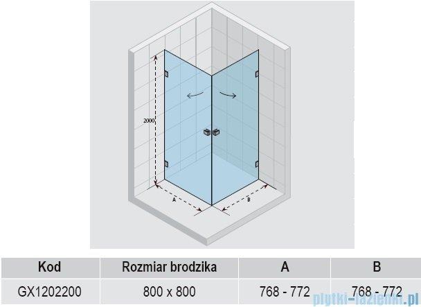 Riho Kabina prysznicowa Scandic Lift M209 80x80x200 cm GX1202200