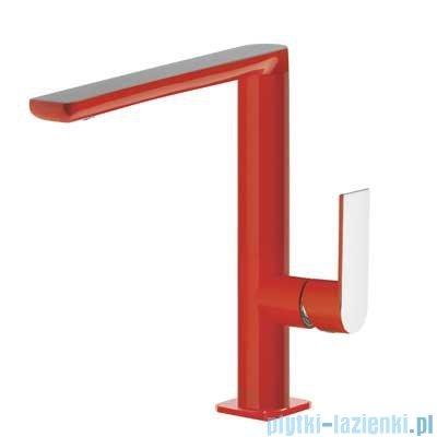 Tres Loft Colors Bateria umywalkowa z korkiem automatycznym kolor czerwony 200.205.02.RO.D