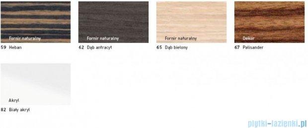 Duravit 2nd floor obudowa meblowa do wanny #700080 do wersji przyściennej heban 2F 8777 59